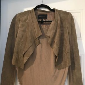 XS BCBG suede fly away jacket